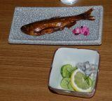 甘露煮と酢の物