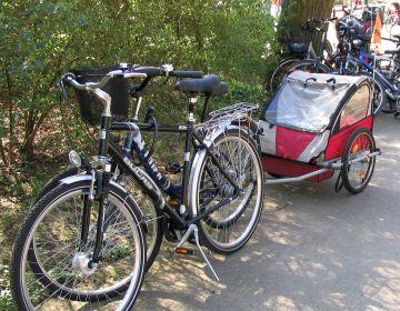 自転車の 自転車 荷台 子供 : ドイツの子供乗せ自転車: ごん ...